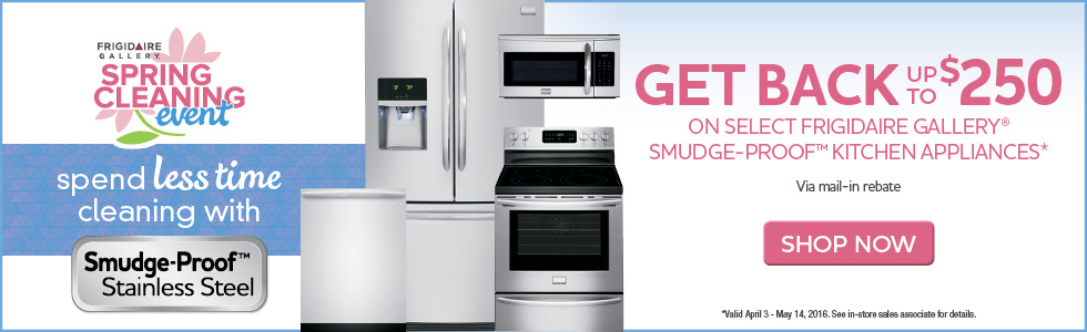 Frigidaire Gallery Appliance Savings- Save up to $250